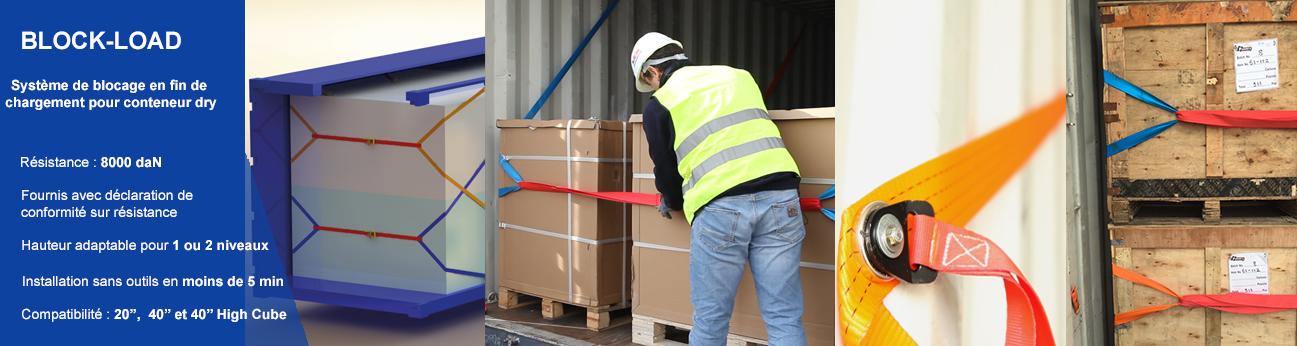 Blockload, système de blocage en fin de chargement pour conteneur dry