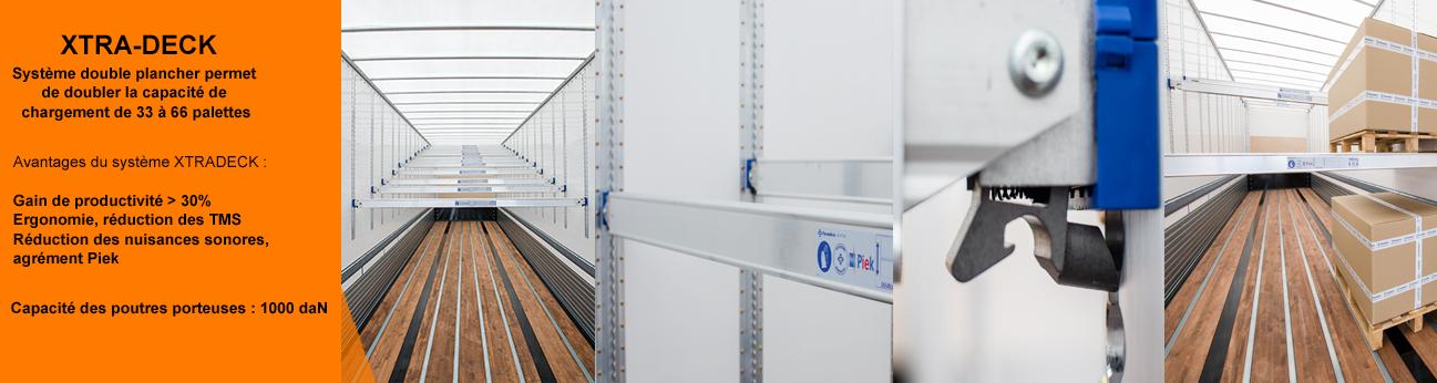 Système double plancher Xtradeck permet de doubler la capacité de chargement de 33 à 66 palettes