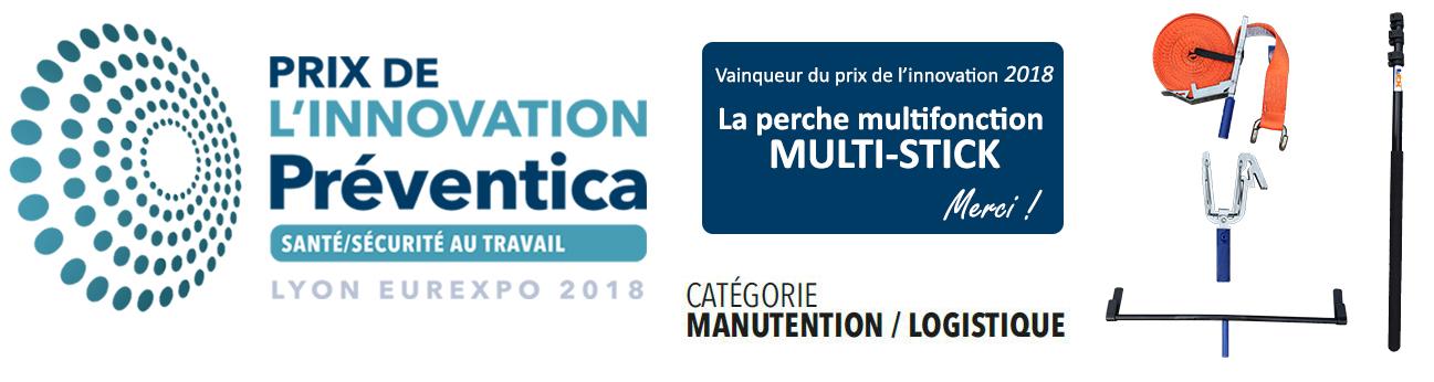 La perche multifonction multistick vainqueur du prix de l'innovation Preventica 2018