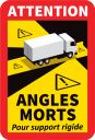 stickers angles morts support rigide