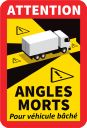 Sticker angles morts vehicule bache